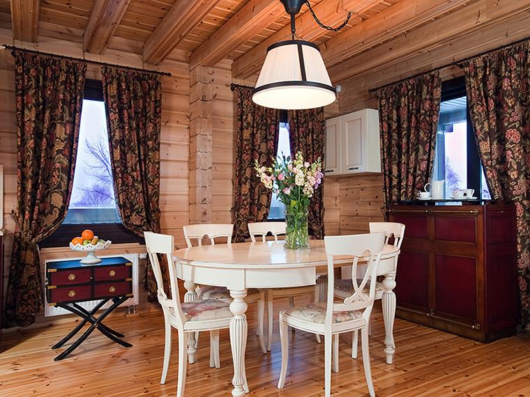 Загородный дом. столовая из проекта , фото №34968