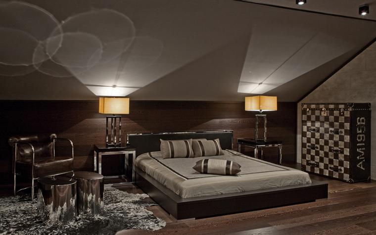Фото № 35024 спальня  Загородный дом