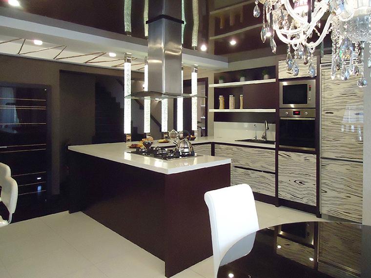 Фото № 35402 кухня  Загородный дом