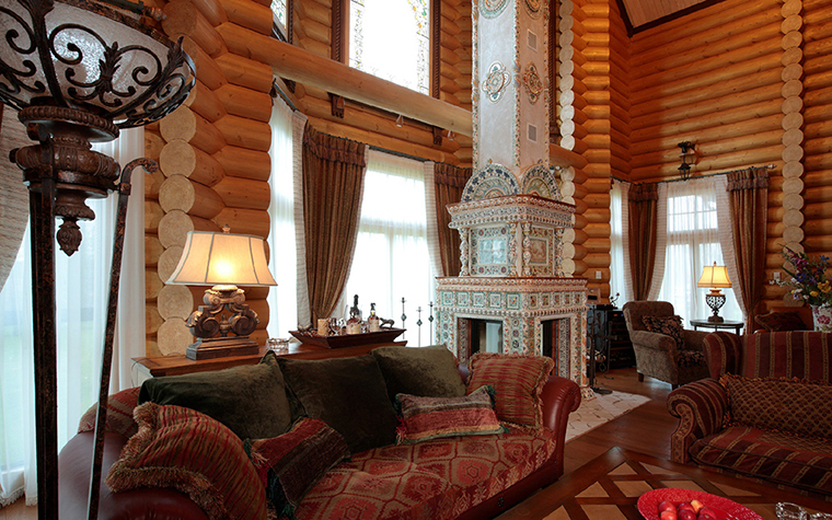 Фото № 36083 гостиная  Загородный дом