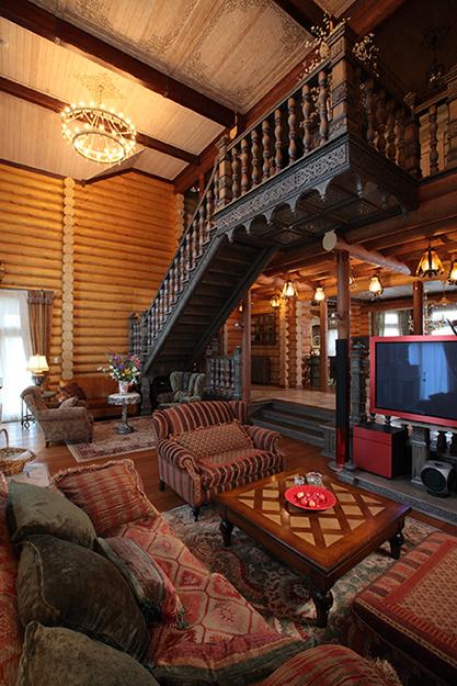 Фото № 36084 гостиная  Загородный дом