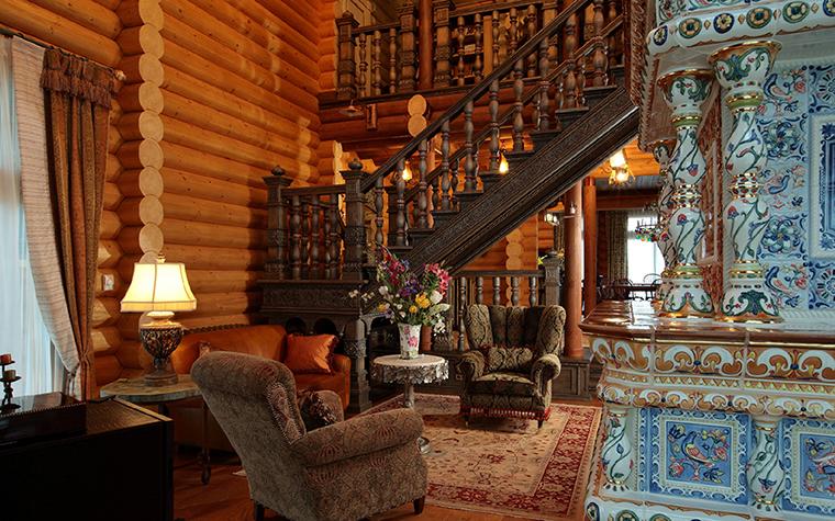 Фото № 36085 гостиная  Загородный дом