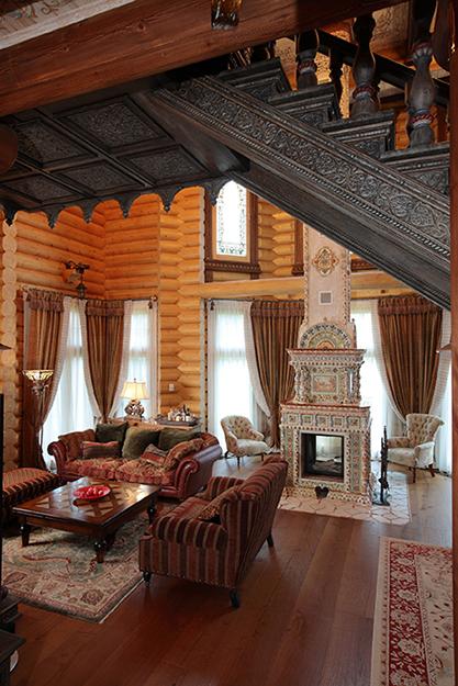Фото № 36086 гостиная  Загородный дом