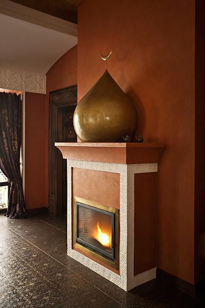 Фальш камины в интерьере гостиной