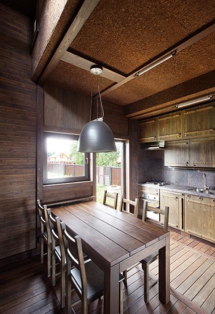 Фото № 36701 кухня  Загородный дом