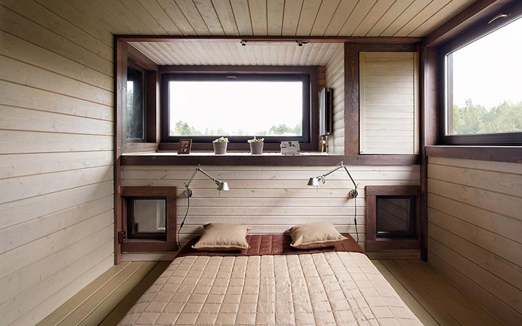 Загородный дом. спальня из проекта , фото №36696