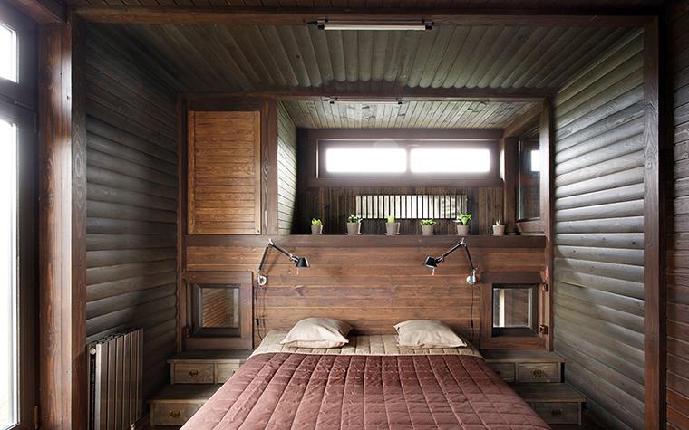 Загородный дом. спальня из проекта , фото №36698