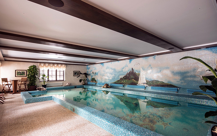 Загородный дом. бассейн из проекта , фото №37096