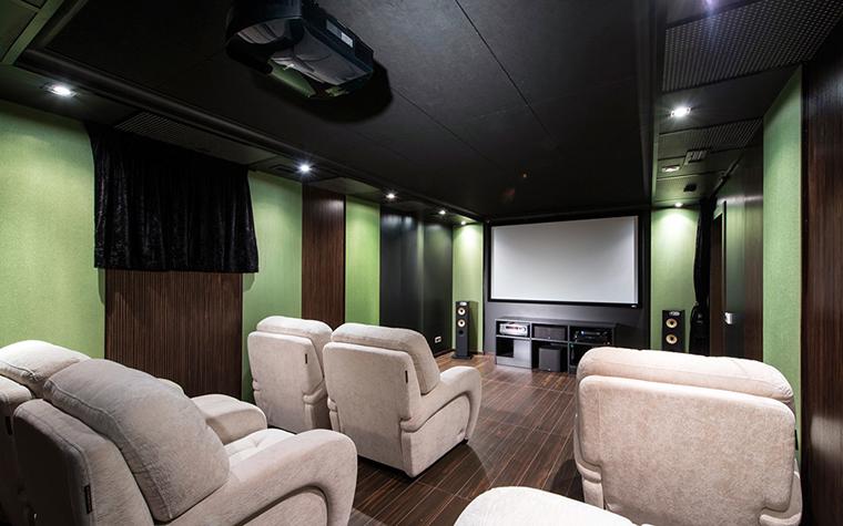 Загородный дом. домашний кинотеатр из проекта , фото №37100