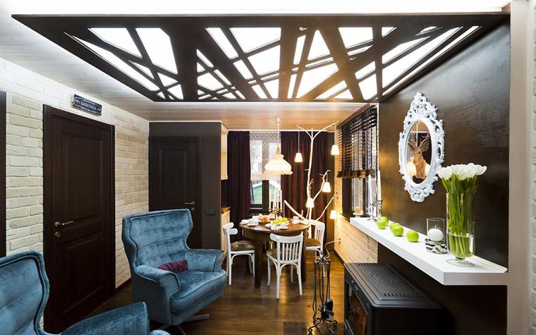 <p>Автор проекта: Варвара Зеленецкая.</p> <p>Современные технологии в области интерьерного освещения позволяют при необходимости создать на стене или потолке дизайнерскую светоинсталяцию. </p>