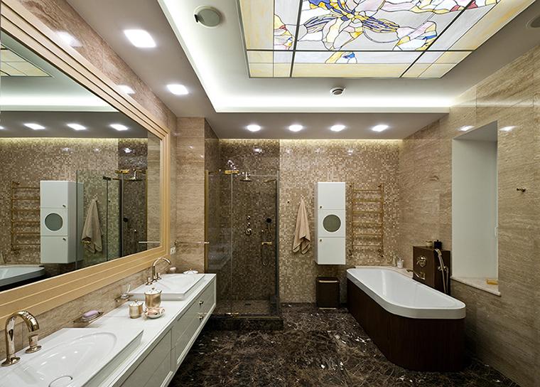 Фото № 39372 ванная  Загородный дом