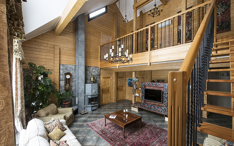 Фото № 39226 гостиная  Загородный дом