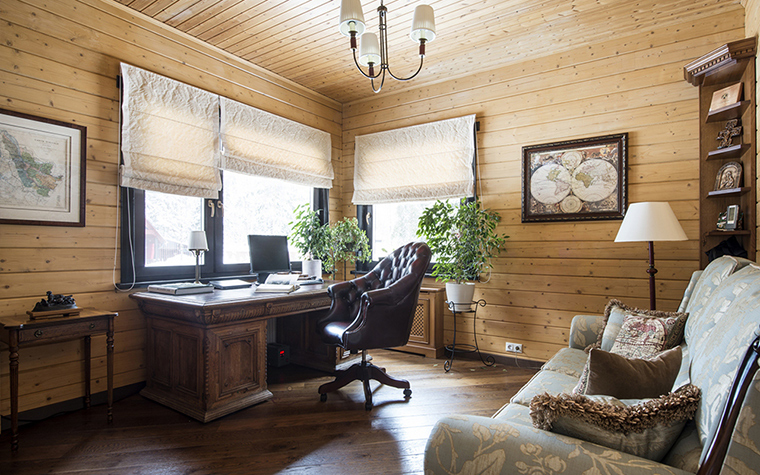Фото № 39232 кабинет библиотека  Загородный дом