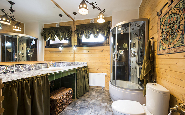 Фото № 39237 ванная  Загородный дом