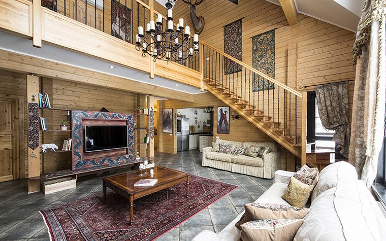 Фото № 39227 гостиная  Загородный дом