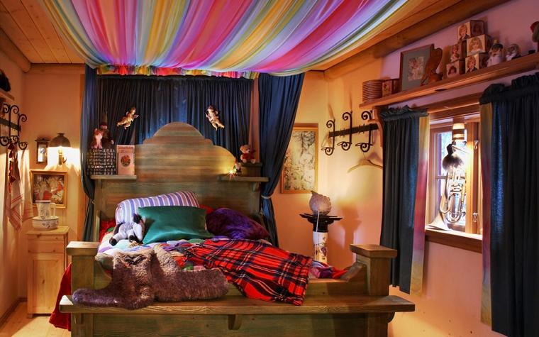 Фото № 39790 спальня  Загородный дом
