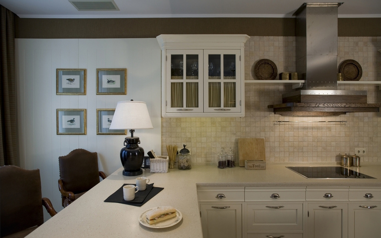 Фото № 40059 кухня  Загородный дом