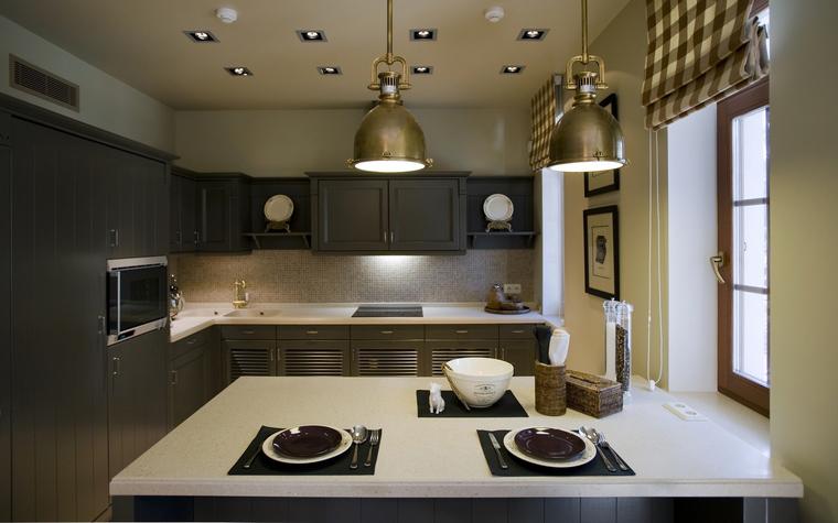 Фото № 40065 кухня  Загородный дом