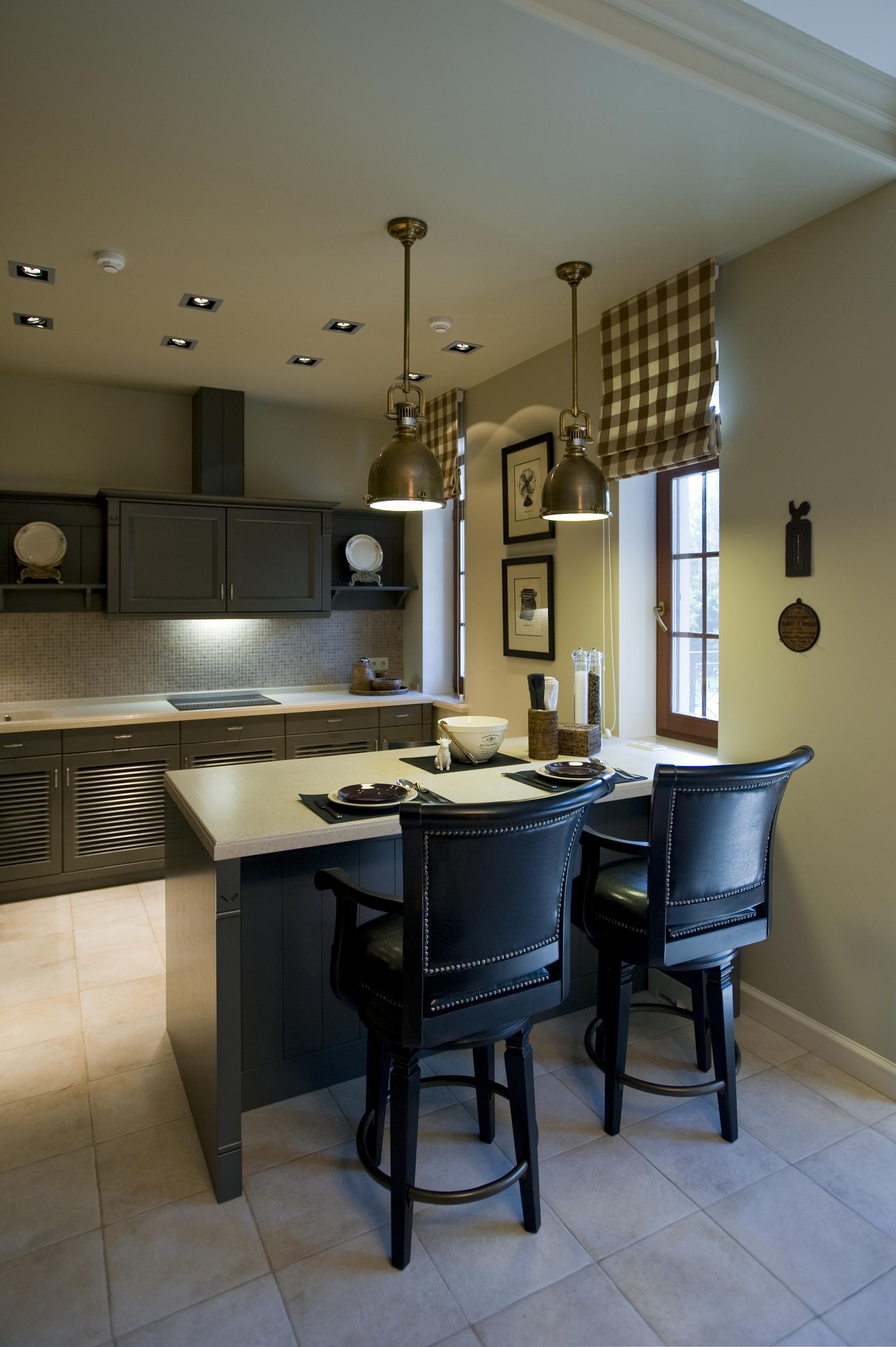 Фото № 40067 кухня  Загородный дом