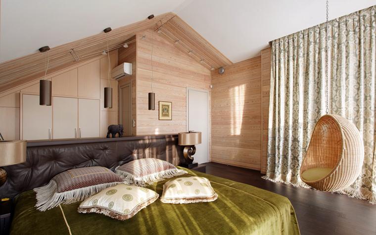 Фото № 40182 спальня  Загородный дом