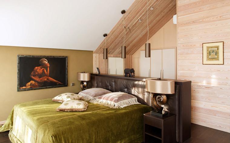 Фото № 40183 спальня  Загородный дом