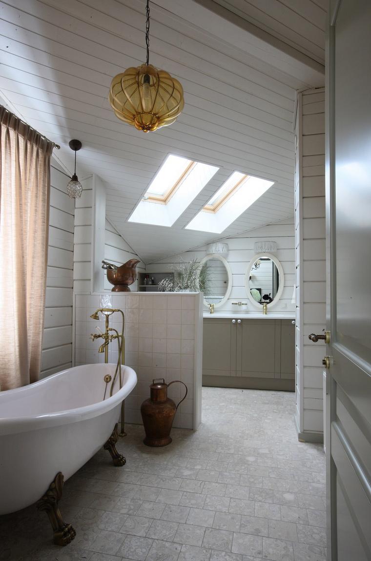 Фото № 40386 ванная  Загородный дом