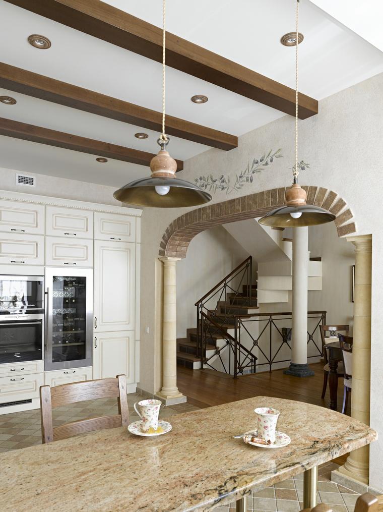 Фото № 41038 кухня  Загородный дом