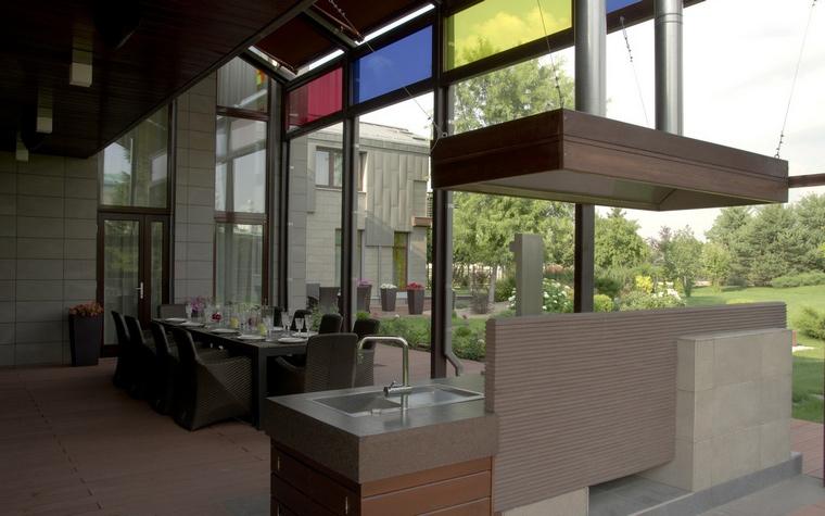 Загородный дом. столовая из проекта , фото №41081