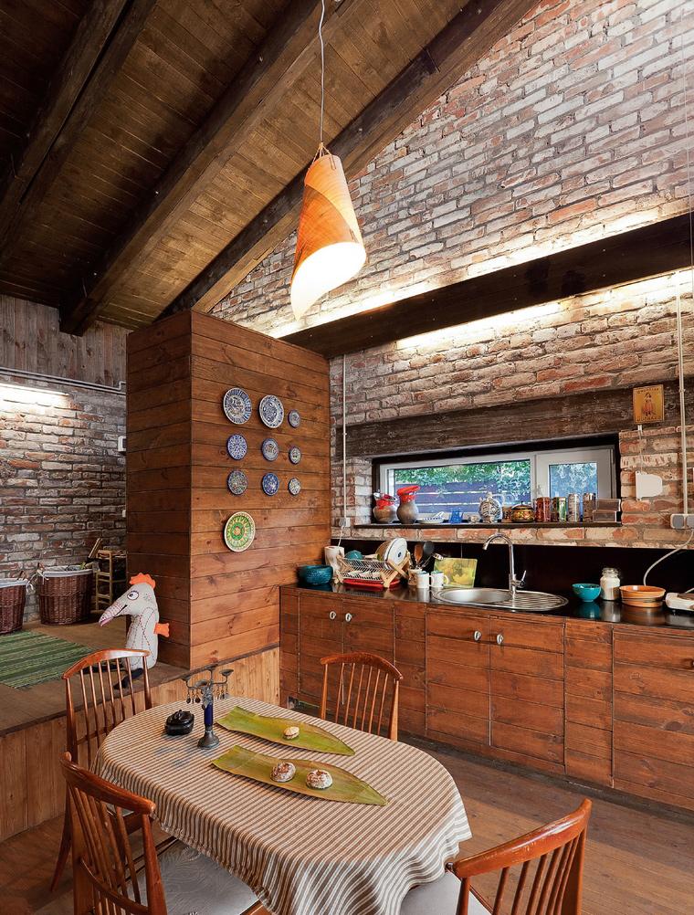 Фото № 42225 кухня  Загородный дом