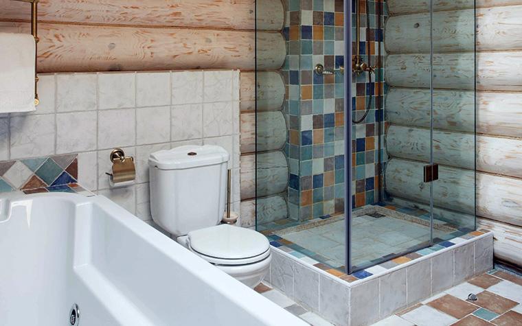 Загородный дом. ванная из проекта , фото №42279