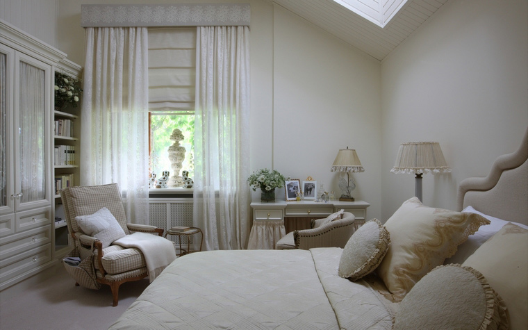 Фото № 48413 спальня  Загородный дом