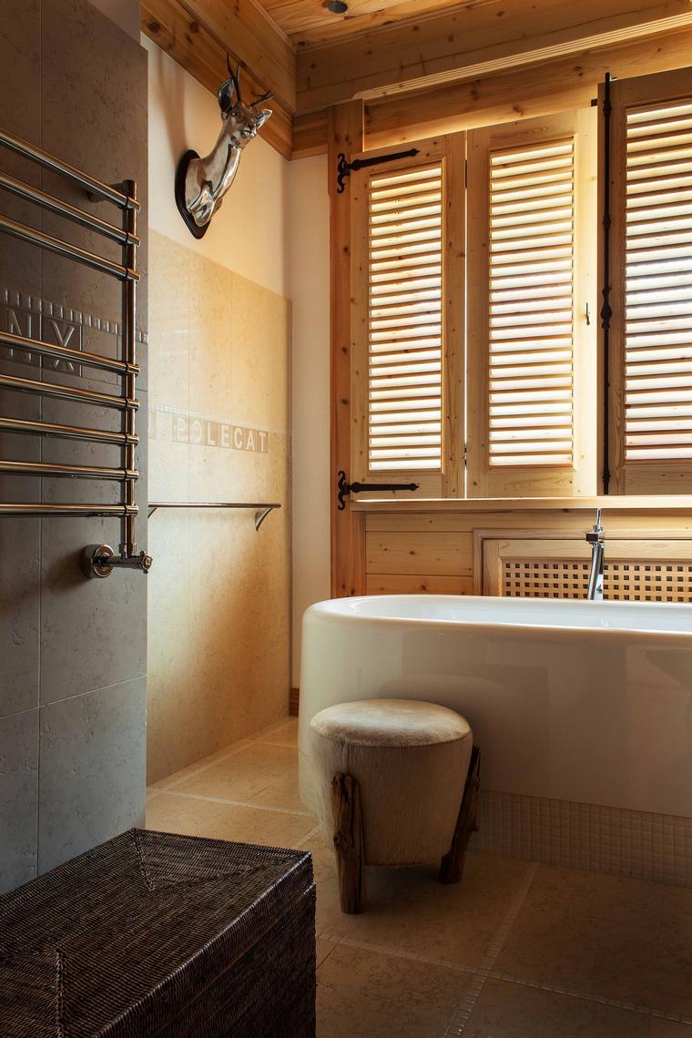Фото № 43245 ванная  Загородный дом
