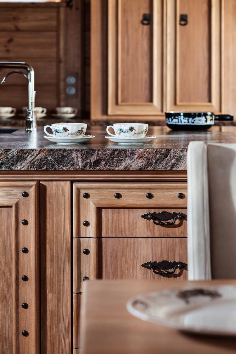 Фото № 43227 кухня  Загородный дом