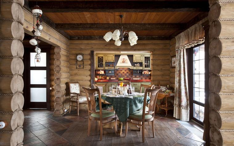 Загородный дом. столовая из проекта , фото №44681