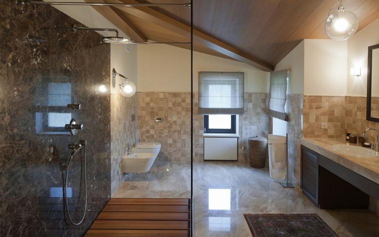 Загородный дом. ванная из проекта , фото №45030
