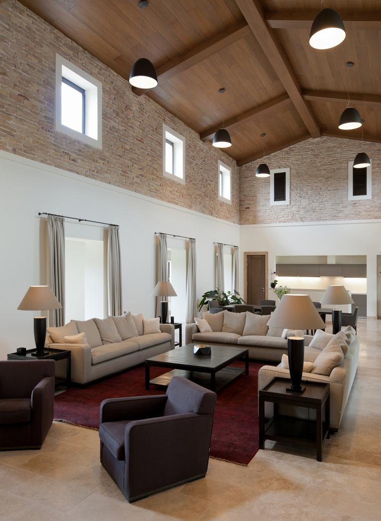 Загородный дом. гостиная из проекта , фото №45012