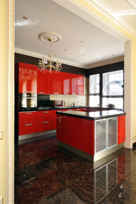 Фото № 45585 кухня  Загородный дом