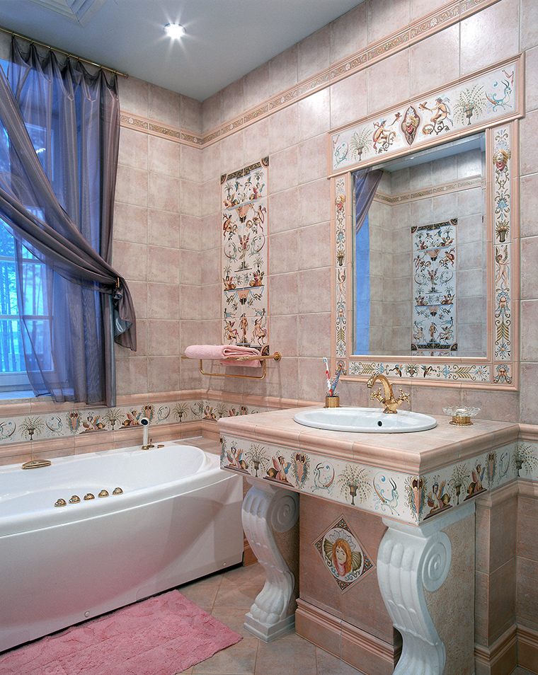 Фото № 46369 ванная  Загородный дом