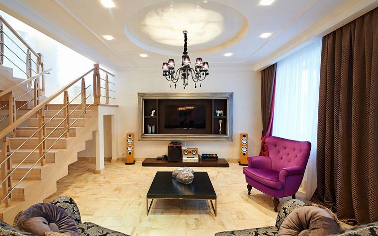 Загородный дом. гостиная из проекта , фото №46491