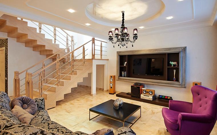 Загородный дом. гостиная из проекта , фото №46492