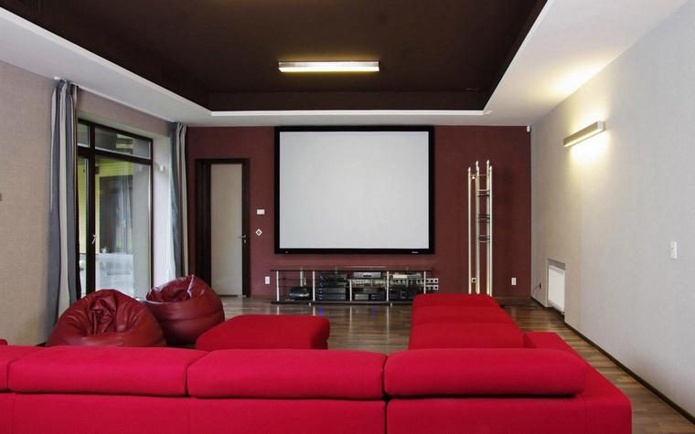 Загородный дом. домашний кинотеатр из проекта , фото №46600