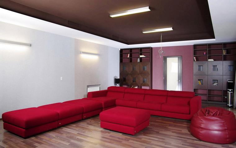 Загородный дом. домашний кинотеатр из проекта , фото №46601