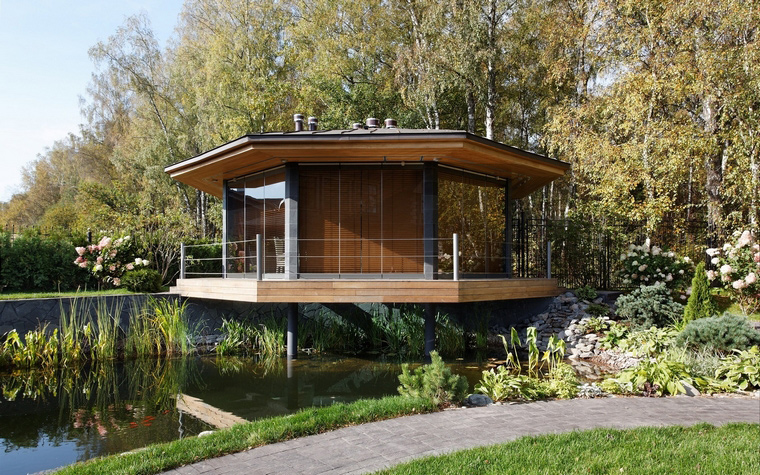 Загородный дом. беседка из проекта , фото №46621