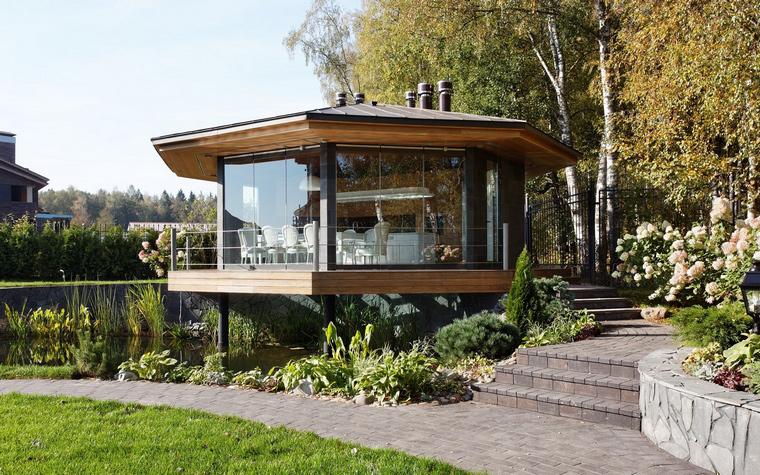 Загородный дом. беседка из проекта , фото №46615