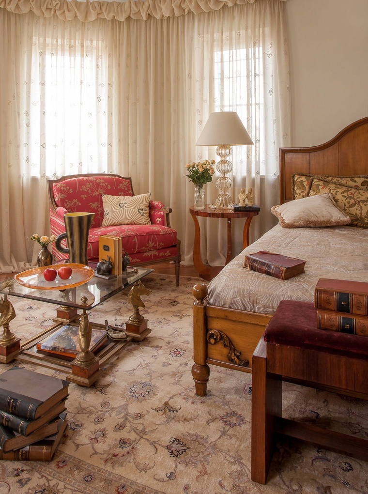Фото № 46694 спальня  Загородный дом