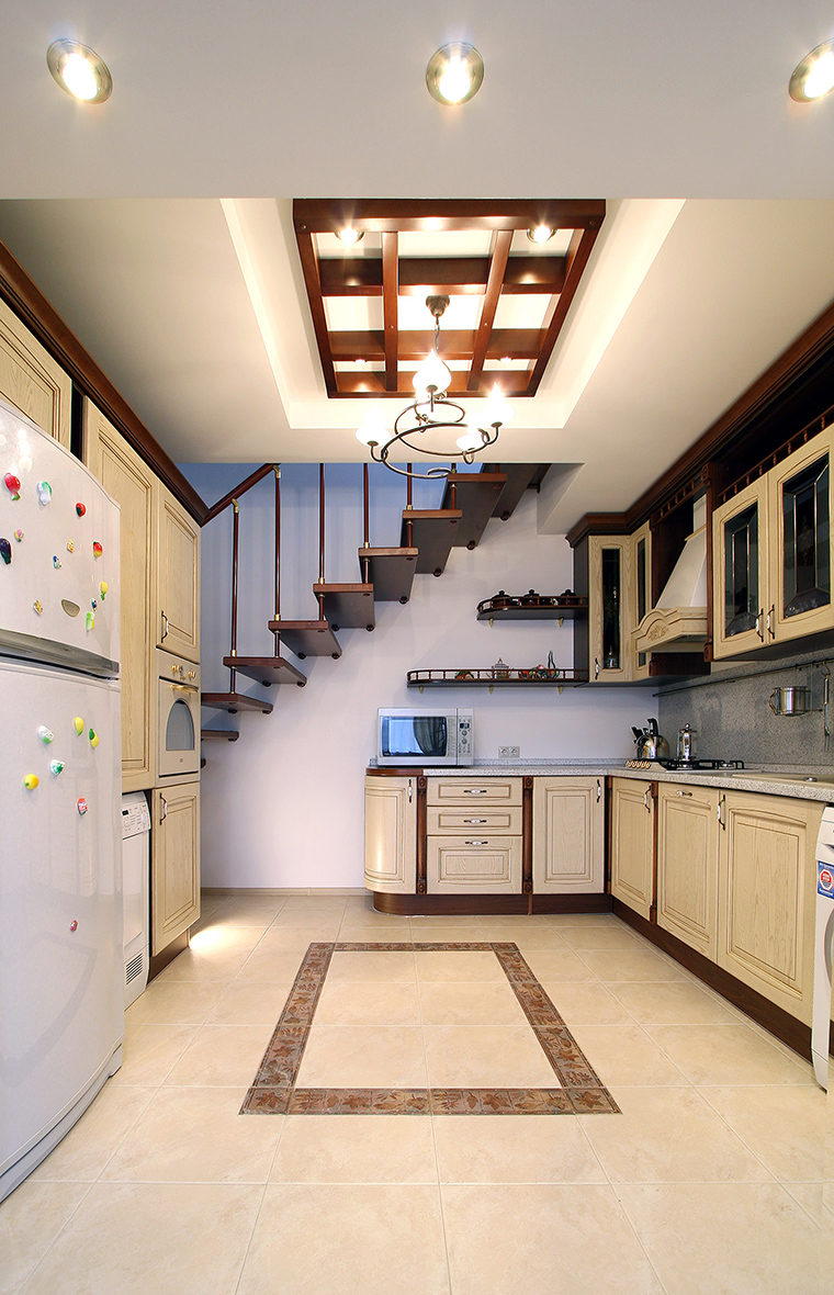 Фото № 47285 кухня  Загородный дом
