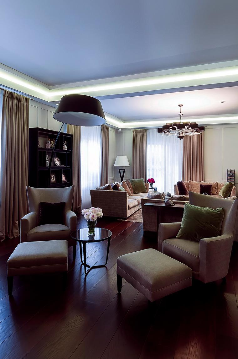 интерьер гостиной - фото № 47533