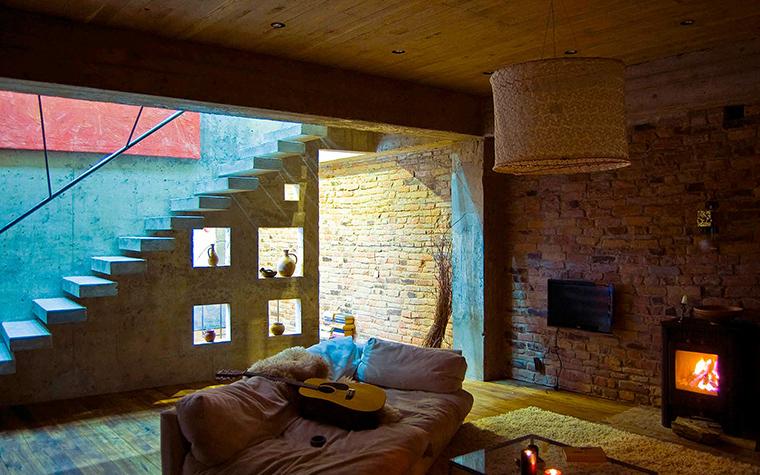 Фото № 48085 гостиная  Загородный дом