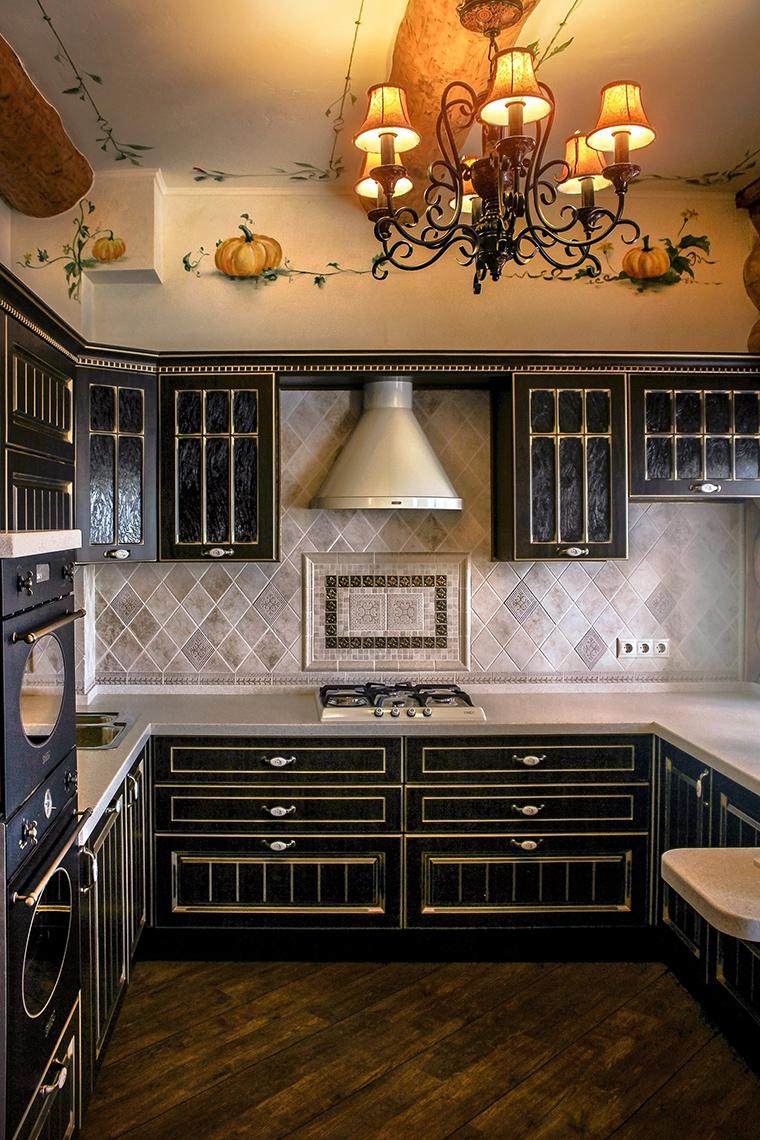 Фото № 48625 кухня  Загородный дом