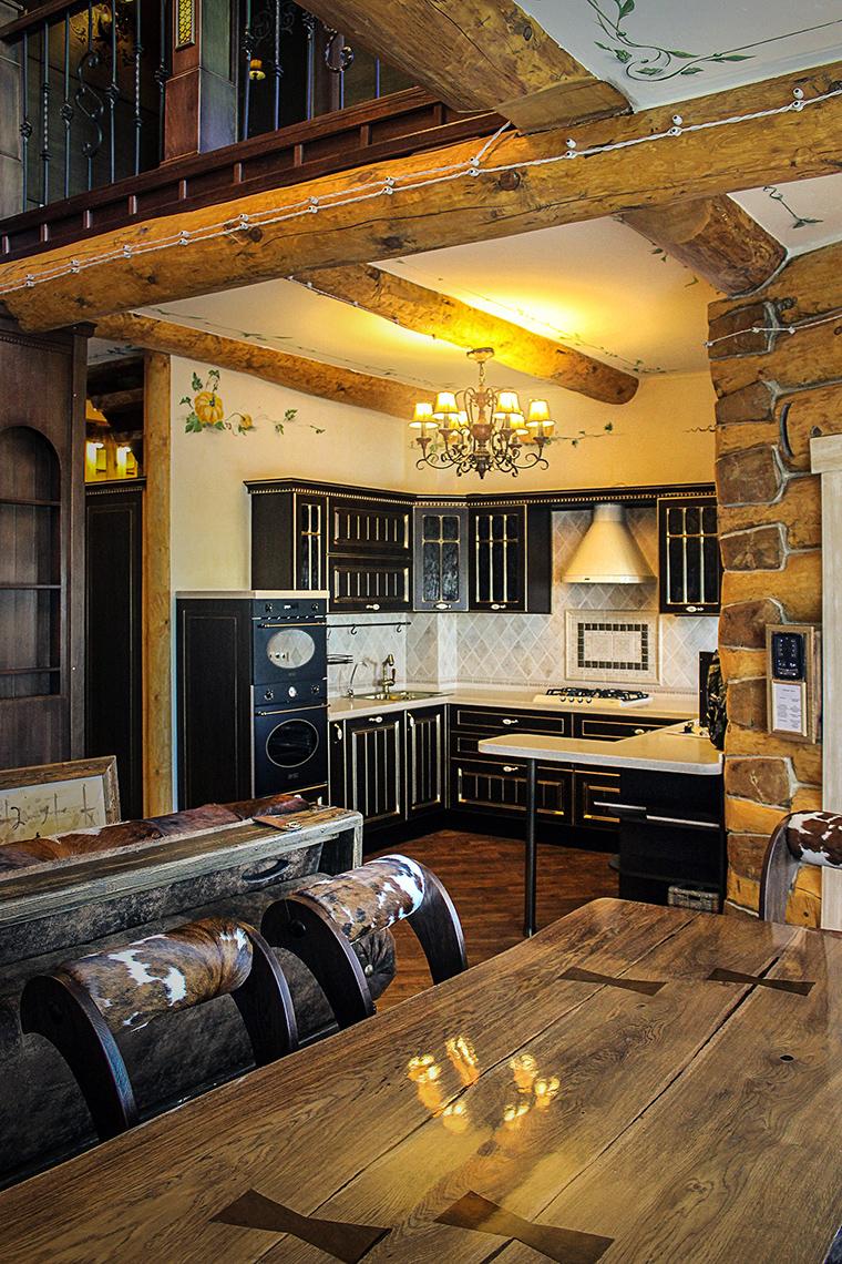 Фото № 48626 кухня  Загородный дом